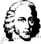 Jonathan Edwards Portrait with Signature