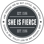 She is Fierce Badge