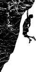 Rock Climber Cliff Hanger
