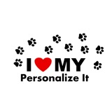 Personalized I Love My Pet...