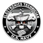 USN Electronics Technician Skull