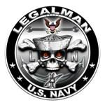 USN Legalman Skull LN
