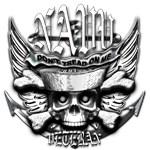 USN Veteran Skull Dont Tread