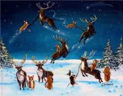 Flying Lessons Corgis & Reindeer