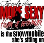 Sexy Woman - Snowmobile