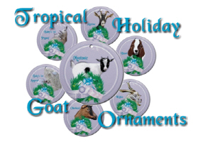 Goat- Tropical Holiday Ornaments