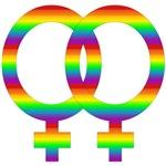 Rainbow Lesbian Symbol T-Shirts & Gifts