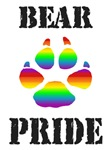 Gay Bear Pride Rainbow Paw T-Shirts & Gifts