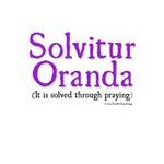 It is solved through praying