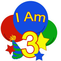 Primary Colors I am three birthday shirt and mor