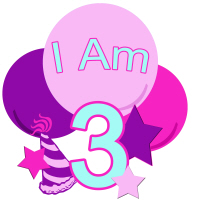 Pastel Colors I am three birthday shirt and more