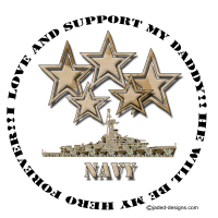 I love and support my Navy Daddy Shirts