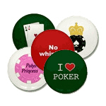 poker stickers and caps