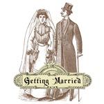 Victorian Wedding Couple T-Shirts