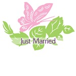 Butterfly Just Married T-Shirts