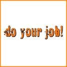 Do Your Job Orange Type