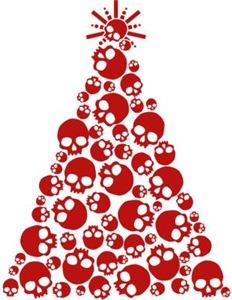 Gothic Skull Xmas Tree