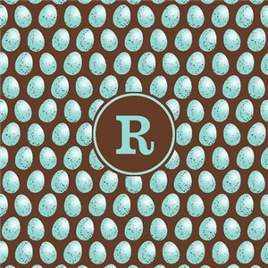 Monogram Robin's Egg Pattern