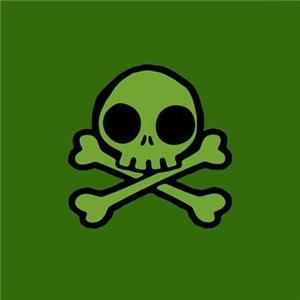 Cute Green Skull