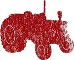 Retro Tractor Red