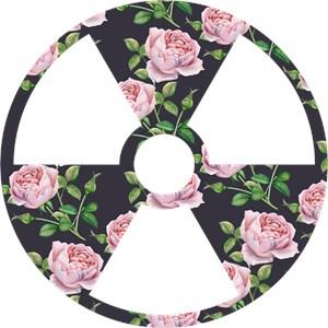 Floral Pattern Radioactive Symbol