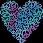 Peace Symbols Heart T-shirts & Gifts
