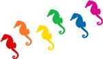 Rainbow Seahorses T-shirts & Gifts