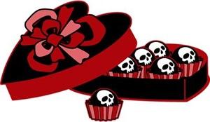Skull Valentine Candy