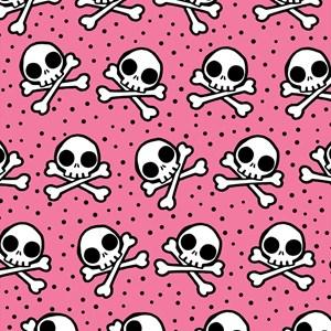 Cute Pink Skull And Crossbones
