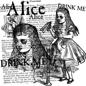 Alice Drink Me Collage