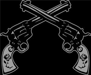 Crossed Six Shooter Pistols