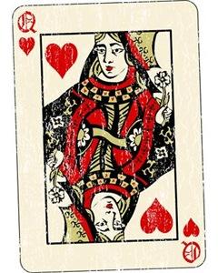 Retro Queen Of Hearts