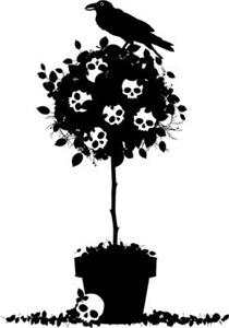 Evil Skull Topiary