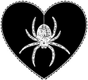 Gothic Spider Heart