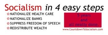 Socialism in 4 steps Bumper Sticker