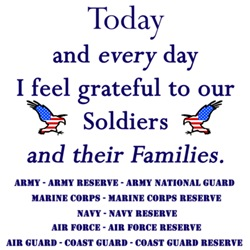 I feel grateful to our Soldiers