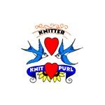 Knitter - Tattoo Art Swallows