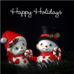 Happy Holidays - Kitsch Snowmen