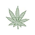 Marijuana Inverted Stencil