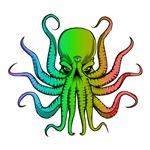 Pastel Rainbow Octopus