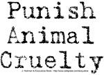 Punish Animal Cruelty