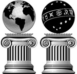 Two Masonic Pillars