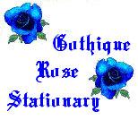 Gothique Rose Stationary