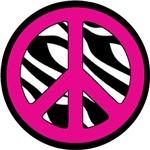 Pink Zebra Peace Symbol