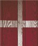 Wood boards Denmark Flag