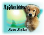 <h5>My Golden Retriever Makes My day</h5>