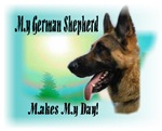 <h5>My German Shepherd Makes My Day</h5>