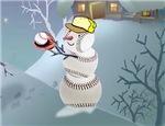baseball horizontal snowman section