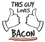 This guy loves bacon t-shirts