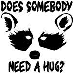 Elf Raccoon Hug Design